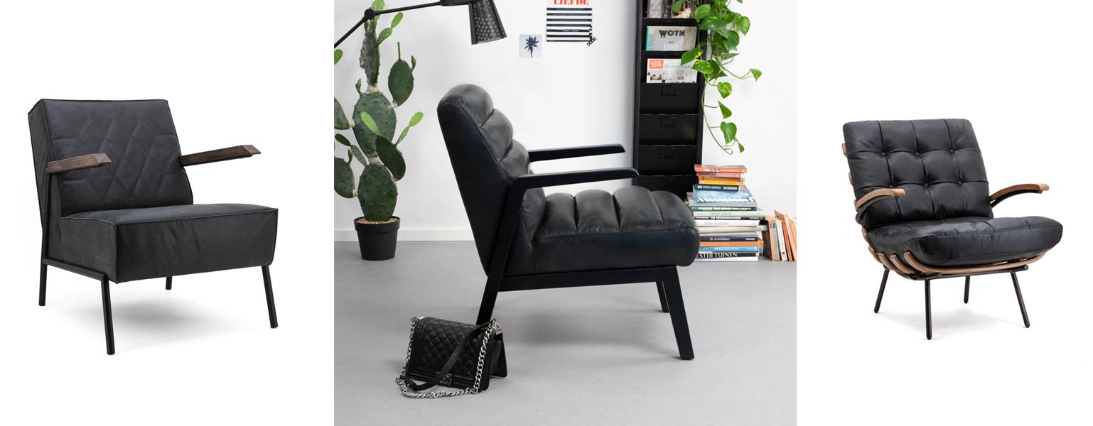 Zwarte fauteuils