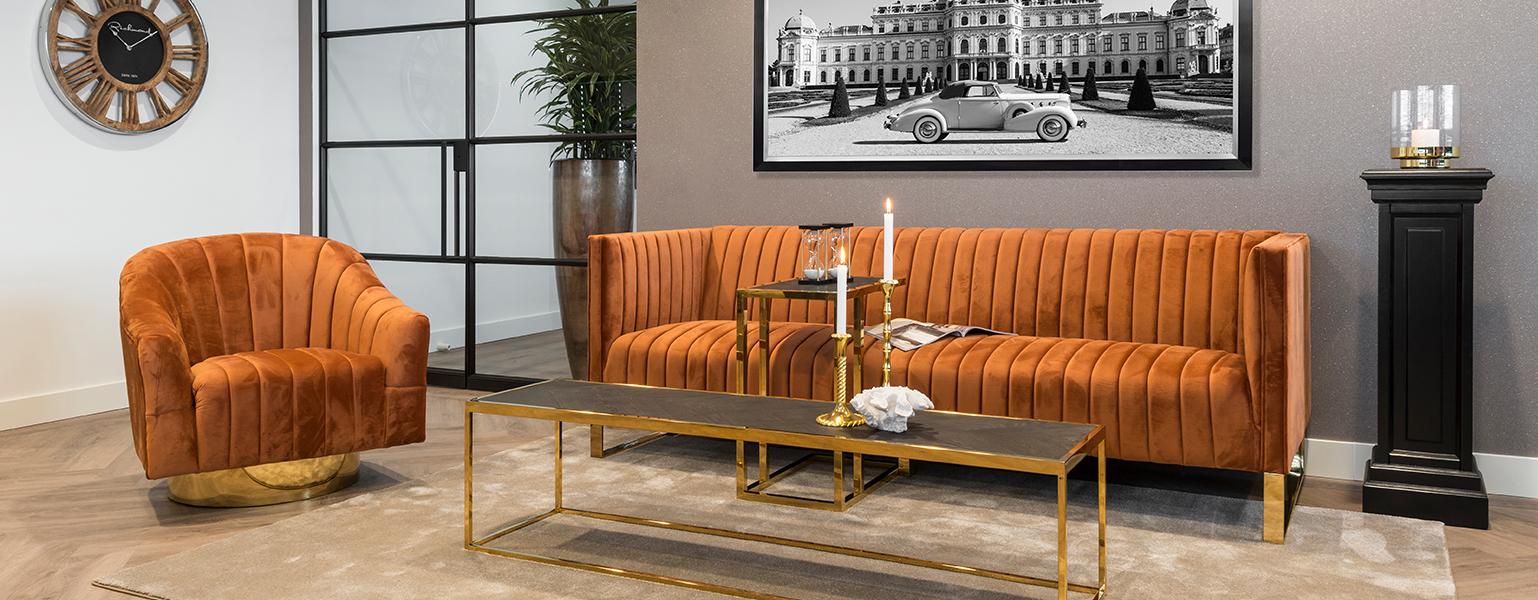 oranje fauteuils