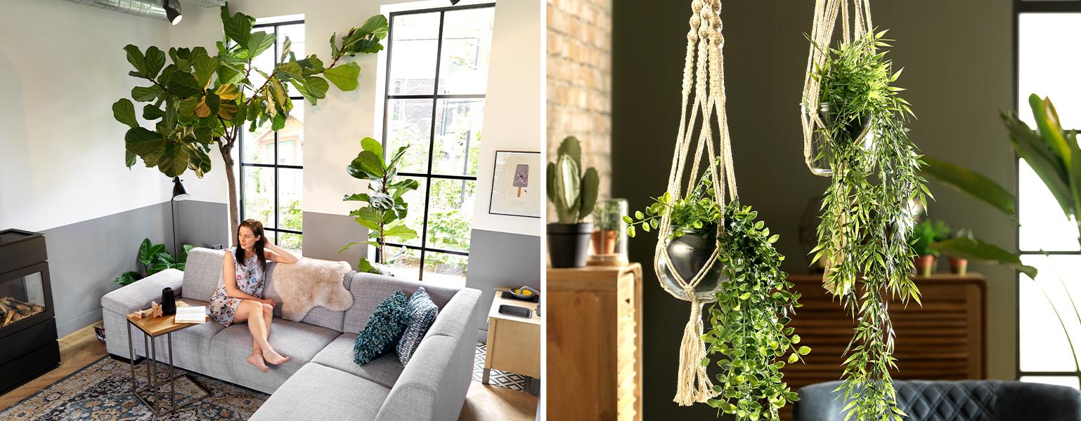 kunstbloemen en kunstplanten