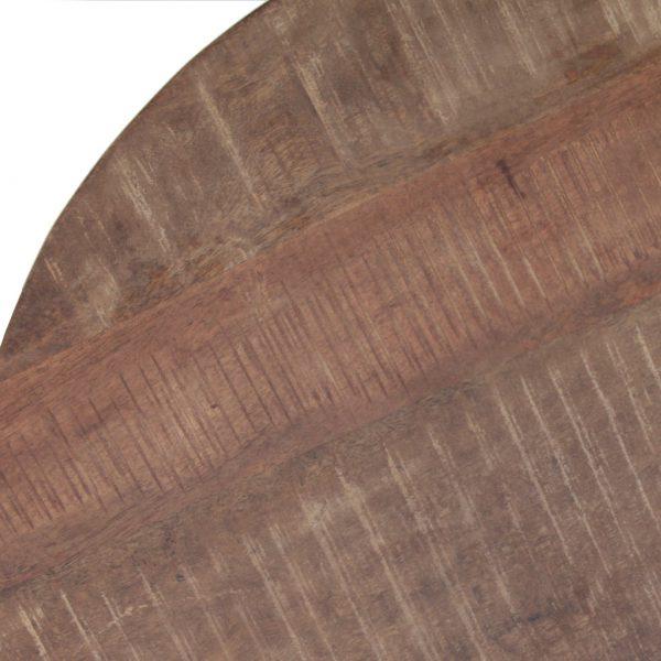 Eleonora Bijzettafel massief met metalen poot - Rond 70cm - 11371 - Löwik Meubelen