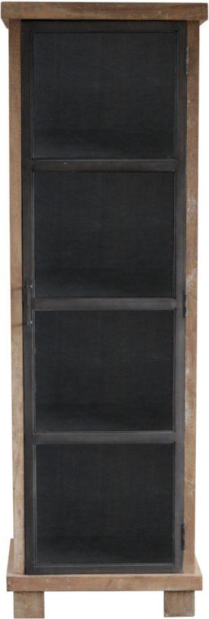 Vitrinekast uit de stijlvolle collectie van Eleonora. De Eleonora meubels sluiten perfect aan bij de laatste interieurtrends op het gebied van eigentijdse, vintage, industriële en scandinavische woonstijlen. Vitrinekast Geneve - 1dr.. Afmeting: (hxbxd) 200x64x40 cm.
