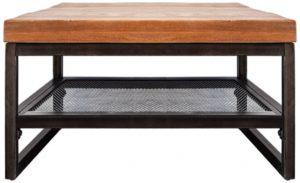 Bijzettafel uit de stijlvolle collectie van Eleonora. De Eleonora meubels sluiten perfect aan bij de laatste interieurtrends op het gebied van eigentijdse, vintage, industriële en scandinavische woonstijlen. Bijzettafel Industrieel - 60x60cm. Afmeting: (hxbxd) 40x140x60 cm.