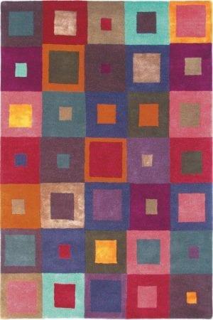 Vloerkleed Estella Carré 84400 van Brink & Campman is een exclusief handgetuft karpet met een eigenzinnig ruitvormig design. Het vloerkleed is samengesteld uit scheerwol, seide / viskose en is uitgevoerd in de kleur meerkleurig. Het kleed heeft een afmeting van 140 x 200 cm.