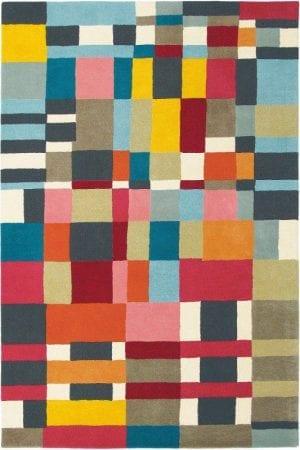 Vloerkleed Estella Domino 83901 van Brink & Campman is een exclusief handgetuft karpet met een eigenzinnig ruitvormig design. Het vloerkleed is samengesteld uit scheerwol en is uitgevoerd in de kleur meerkleurig. Het kleed heeft een afmeting van 140 x 200 cm.