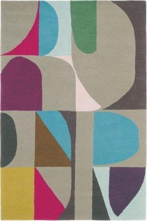 Vloerkleed Estella Harmony 88605 van Brink & Campman is een exclusief handgetuft karpet met een eigenzinnig ruitvormig, cirkelvormig design. Het vloerkleed is samengesteld uit scheerwol en is uitgevoerd in de kleur meerkleurig. Het kleed heeft een afmeting van 140 x 200 cm.