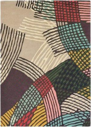 Vloerkleed Estella Shift 89302 van Brink & Campman is een exclusief handgetuft karpet met een eigenzinnig strepen design. Het vloerkleed is samengesteld uit scheerwol, seide / viskose en is uitgevoerd in de kleur meerkleurig. Het kleed heeft een afmeting van 140 x 200 cm.