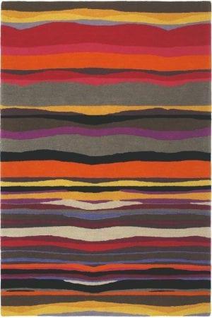 Vloerkleed Estella Summer 85200 van Brink & Campman is een exclusief handgetuft karpet met een eigenzinnig strepen design. Het vloerkleed is samengesteld uit scheerwol en is uitgevoerd in de kleur meerkleurig. Het kleed heeft een afmeting van 140 x 200 cm.