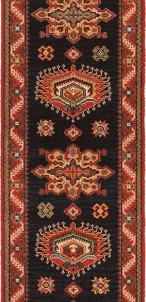 Vloerkleed Loper Emir 10520 van Brink & Campman is een exclusief loper karpet met een eigenzinnig geborduurd, klassiek design. Het vloerkleed is samengesteld uit polyamide, wol en is uitgevoerd in de kleur rood, blauw, meerkleurig. Het kleed heeft een afmeting van 57 x 100 cm.