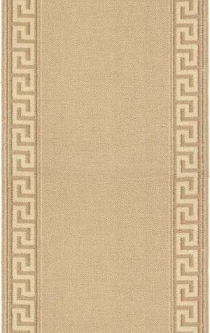 Vloerkleed Loper Hellas 10804 van Brink & Campman is een exclusief loper karpet met een eigenzinnig geborduurd, effen design. Het vloerkleed is samengesteld uit polyamide, wol en is uitgevoerd in de kleur beige. Het kleed heeft een afmeting van 57 x 100 cm.