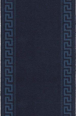 Vloerkleed Loper Hellas 10803 van Brink & Campman is een exclusief loper karpet met een eigenzinnig geborduurd, effen design. Het vloerkleed is samengesteld uit polyamide, wol en is uitgevoerd in de kleur blauw. Het kleed heeft een afmeting van 57 x 100 cm.