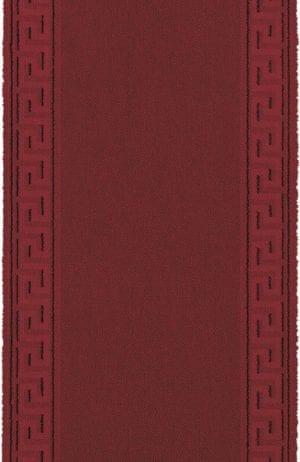 Vloerkleed Loper Hellas 10801 van Brink & Campman is een exclusief loper karpet met een eigenzinnig geborduurd, effen design. Het vloerkleed is samengesteld uit polyamide, wol en is uitgevoerd in de kleur rood. Het kleed heeft een afmeting van 57 x 100 cm.