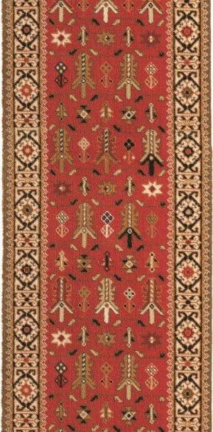 Vloerkleed Loper Kasjmier 76744 van Brink & Campman is een exclusief loper karpet met een eigenzinnig geborduurd, klassiek design. Het vloerkleed is samengesteld uit polyamide, wol en is uitgevoerd in de kleur beige, rood, meerkleurig. Het kleed heeft een afmeting van 57 x 100 cm.