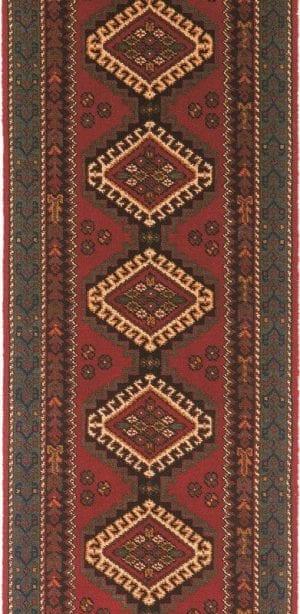Vloerkleed Loper Kasjmier 76446 van Brink & Campman is een exclusief loper karpet met een eigenzinnig geborduurd, klassiek design. Het vloerkleed is samengesteld uit polyamide, wol en is uitgevoerd in de kleur rood, meerkleurig. Het kleed heeft een afmeting van 57 x 100 cm.