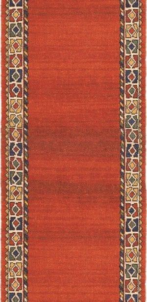 Vloerkleed Loper Qashqai 61001 van Brink & Campman is een exclusief loper karpet met een eigenzinnig geborduurd, klassiek design. Het vloerkleed is samengesteld uit polyamide, wol en is uitgevoerd in de kleur oranje, rood, meerkleurig. Het kleed heeft een afmeting van 57 x 100 cm.