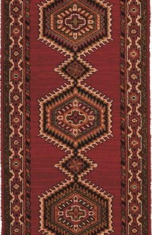 Vloerkleed Loper Sultan 10706 van Brink & Campman is een exclusief loper karpet met een eigenzinnig geborduurd, klassiek design. Het vloerkleed is samengesteld uit polyamide, wol en is uitgevoerd in de kleur rood, meerkleurig. Het kleed heeft een afmeting van 57 x 100 cm.