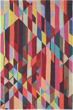 Vloerkleed Xian Facet 78400 van Brink & Campman is een exclusief handgetuft karpet met een eigenzinnig ruitvormig, strepen design. Het vloerkleed is samengesteld uit acryl en is uitgevoerd in de kleur meerkleurig. Het kleed heeft een afmeting van 170 x 240 cm.