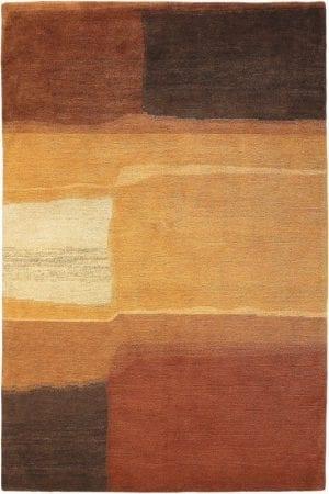 Vloerkleed Yara Aquarel 193303 van Brink & Campman is een exclusief handgeknoopt karpet met een eigenzinnig ruitvormig design. Het vloerkleed is samengesteld uit nieuw-zeeland wol, tibetaans wol en is uitgevoerd in de kleur bruin. Het kleed heeft een afmeting van 140 x 200 cm.