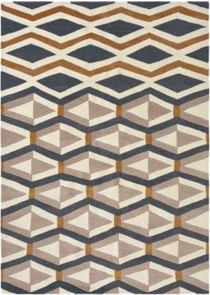 Vloerkleed Yara Artdeco 33504 van Brink & Campman is een exclusief handgeknoopt karpet met een eigenzinnig ruitvormig, strepen design. Het vloerkleed is samengesteld uit nieuw-zeeland wol, tibetaans wol en is uitgevoerd in de kleur beige, blauw. Het kleed heeft een afmeting van 140 x 200 cm.
