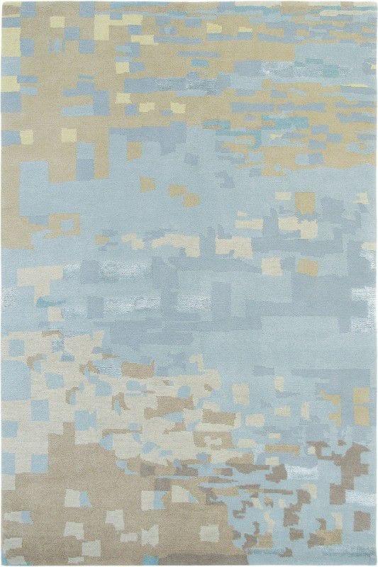 Vloerkleed Yara Mist - blauw - bruin - meerkleurig