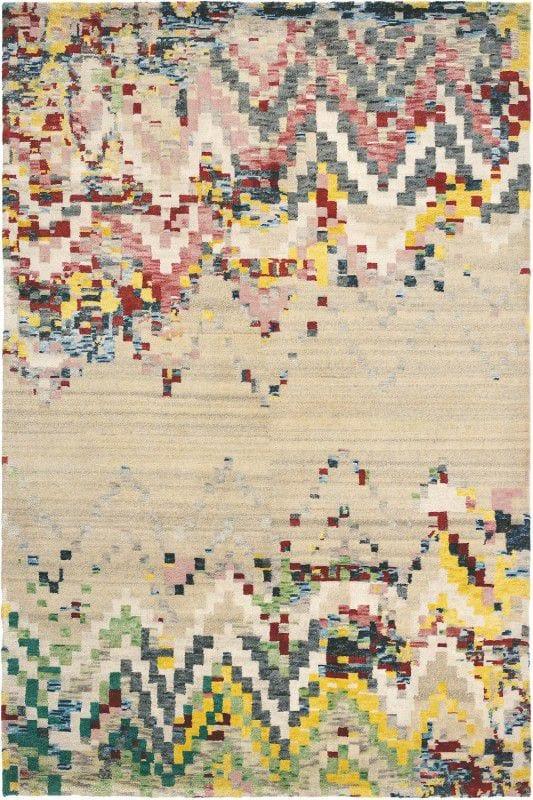 Vloerkleed Yeti Anapurna 51901 van Brink & Campman is een exclusief handgeknoopt karpet met een eigenzinnig strepen, verloop design. Het vloerkleed is samengesteld uit scheerwol en is uitgevoerd in de kleur meerkleurig. Het kleed heeft een afmeting van 140 x 200 cm.
