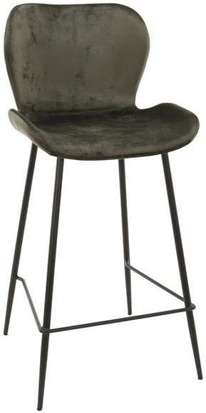 Barstoel velvet ronde buis VPE4 / Antraciet velours. 3739/45V uit de barstoelen collectie van Zijlstrakleinmeubelen & verlichting bij Löwik Meubelen