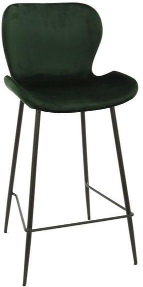 Barstoel velvet ronde buis VPE4 / Groen velours. 3739/72V uit de barstoelen collectie van Zijlstrakleinmeubelen & verlichting bij Löwik Meubelen