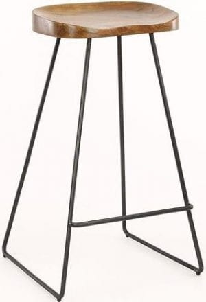 Barstoel houten zitting VPE 4 / Massief acacia naturel. 3622/15 uit de barstoelen collectie van Zijlstrakleinmeubelen & verlichting bij Löwik Meubelen