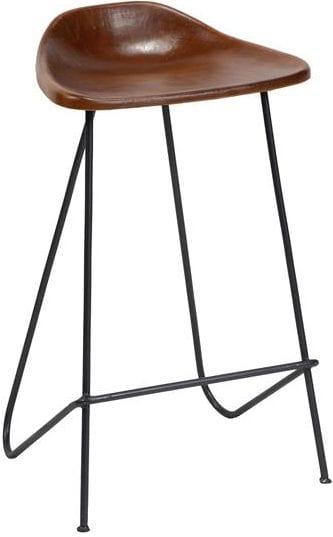 Barstoel in vintage leder. Per 4 stuks verpakt. / Bruin. 3616/40 uit de barstoelen collectie van Zijlstrakleinmeubelen & verlichting bij Löwik Meubelen
