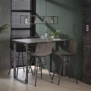 Bartafel 120cm 45°  frame / 3D betonlook grijs. 3721/62 uit de bartafels collectie van Bullcraft kleinmeubelen & verlichting bij Löwik Meubelen