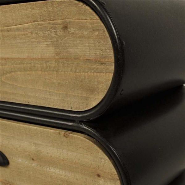 Dressoir Trunk 4 +1 laden / Zwart. 3350/44 uit de dressoirs collectie van Zijlstrakleinmeubelen & verlichting bij Löwik Meubelen
