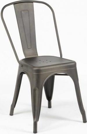 Stoel Bistro per 4 stuks verpakt / Gun metal. 3611/44G uit de eetkamerstoelen collectie van Zijlstrakleinmeubelen & verlichting bij Löwik Meubelen