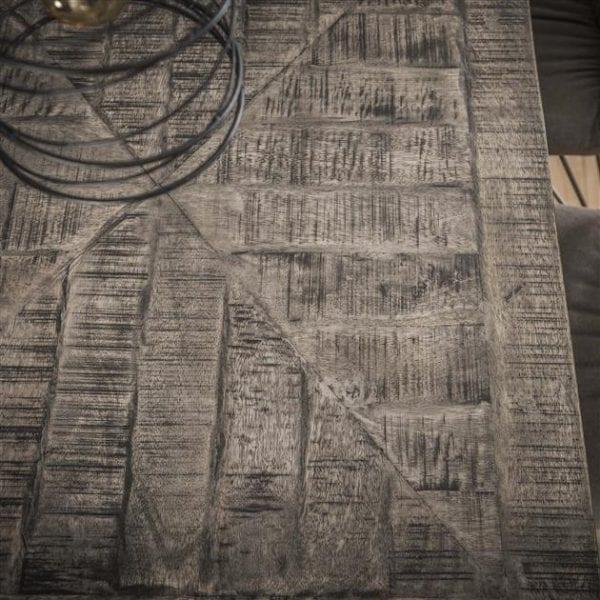 Eetkamertafel 200 grado / Massief mango grijs antiek. 2280/16AG uit de eetkamertafels collectie van Zijlstrakleinmeubelen & verlichting bij Löwik Meubelen