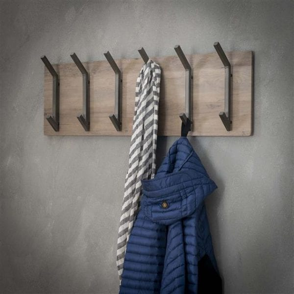 Kapstok 2x6 haken / 3D eiken greywash. 5560/66 uit de kapstokken collectie van Zijlstrakleinmeubelen & verlichting bij Löwik Meubelen