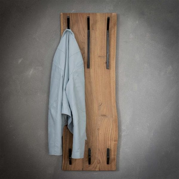 Kapstok edge 2x3 haken hoog / Massief acacia naturel. 2484/15 uit de kapstokken collectie van Zijlstrakleinmeubelen & verlichting bij Löwik Meubelen