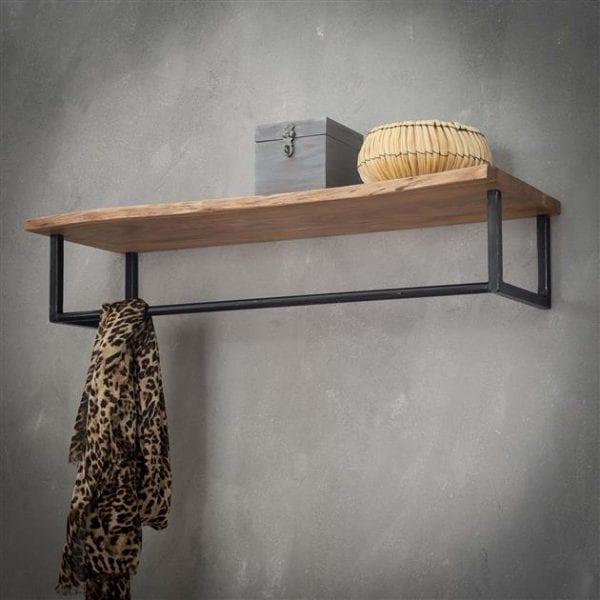 Kapstok edge hoedenplank / Massief acacia naturel. 2486/15 uit de kapstokken collectie van Zijlstrakleinmeubelen & verlichting bij Löwik Meubelen
