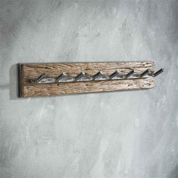 Kapstok grained 8 haken / Robuust hardhout. 2452/20 uit de kapstokken collectie van Zijlstrakleinmeubelen & verlichting bij Löwik Meubelen
