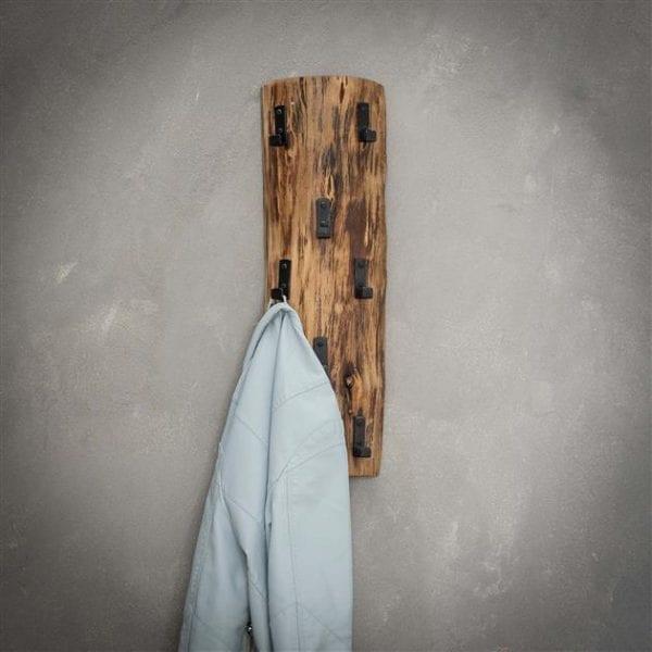 Kapstok boomstam 8 haken / Massief acacia naturel. 2495/15 uit de kapstokken collectie van Zijlstrakleinmeubelen & verlichting bij Löwik Meubelen