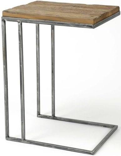 Laptoptafel grained / Robuust hardhout. 2431/20 uit de bijzettafels collectie van Zijlstrakleinmeubelen & verlichting bij Löwik Meubelen