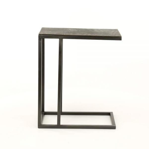 Laptoptafel zandgegoten / Zwart nikkel. 3480/31Z uit de bijzettafels collectie van Zijlstrakleinmeubelen & verlichting bij Löwik Meubelen