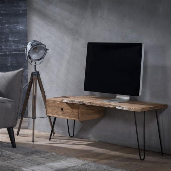 TV-meubel edge 2+3 dik / Massief acacia naturel. 2512/15 uit de opbergmeubelen collectie van Zijlstrakleinmeubelen & verlichting bij Löwik Meubelen