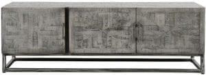 TV-meubel grado / Massief mango grijs antiek. 2285/16AG uit de opbergmeubelen collectie van Zijlstrakleinmeubelen & verlichting bij Löwik Meubelen