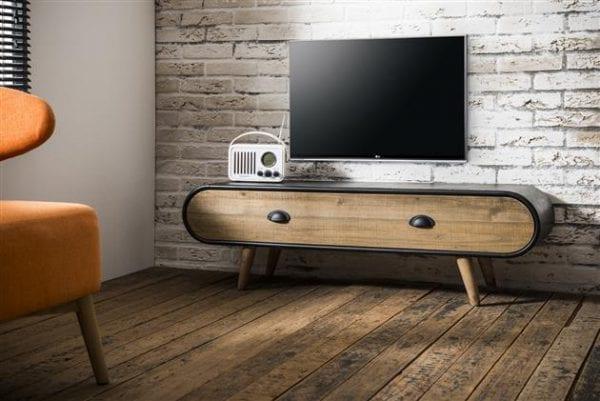 TV-meubel Trunk 1 lade / Zwart. 3349/44 uit de opbergmeubelen collectie van Zijlstrakleinmeubelen & verlichting bij Löwik Meubelen