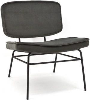 Tess fauteuil By-Boo voor de fauteuil collectie van Feelings - antraciet
