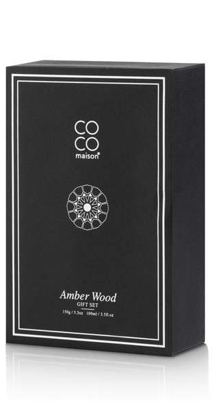 gift set Amber Wood 150 gr candle + 100 ml air diffuser Coco Maison CANDLES Lowik Wonen & Slapen