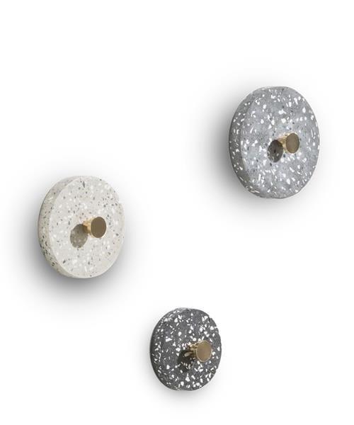 wandhaken Terrazzo - set van 3 - antraciet / grijs / beige Coco Maison WALLDECO Lowik Wonen & Slapen