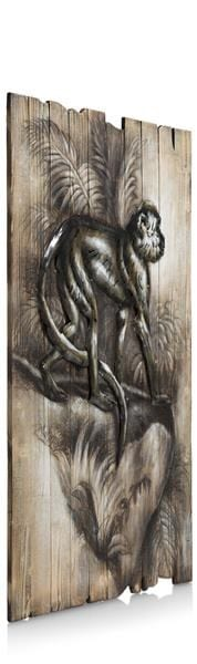 schilderij Monkey 73 x 90 cm Coco Maison PAINTING Lowik Wonen & Slapen