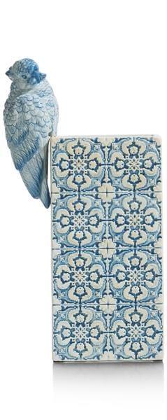 vaas Parrot - hoogte 27 cm Coco Maison ACCESOIRES Lowik Wonen & Slapen