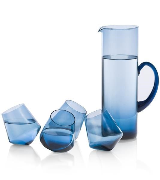 set Caraf & 4 Glasses - blauw Coco Maison ACCESOIRES Lowik Wonen & Slapen