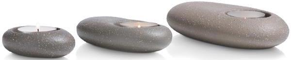 theelicht Stones - set van 3 Coco Maison ACCESOIRES Lowik Wonen & Slapen