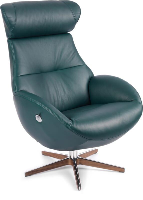 Globe fauteuil - leder Bolzano teal